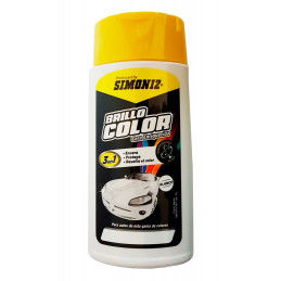 Cera Liquida Brillo Color Blanco 300ml, 3 en 1 Encera Protege y Resalta el color, 7702155038206 SIMONIZ