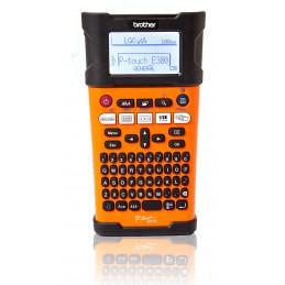 Rotuladora Brother Industrial PT-E300VP Con Bateria, Ptouch 1-5 Lineas con cintas Tze 18mm