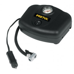 Compresor de 12v para auto con manometro integrado 250 PSI, COMP-12P 21689 Pretul