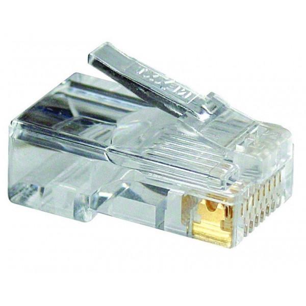 Conector RJ45 Nexxt Solutions Categoria 5E AW102NXT02, 50 Piezas por Paquete, Contactos Bañados con oro de 50μ