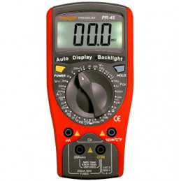 Multitester Digital Prasek Premium PR-45, DC1000V AC750V Voltaje Resistencia Capacitancia diodo Temp y Continuidad