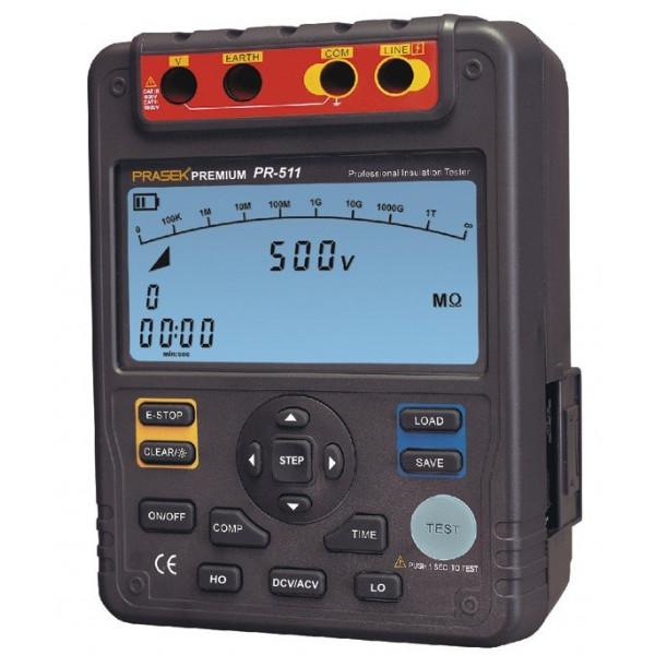 Megometro Digital Prasek Premium PR-511, Insulation Resistance 1000v DC 1000V AC 750V Auto Rango