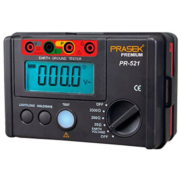 Telurometro Digital Prasek Premium PR-521, Medidor de Resistencia del aislamiento 2000 OHM