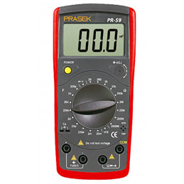 Capacimetro Digital Prasek PR-59, Resistenacia Capacitancia Inductancia diodo continuidad Transistor