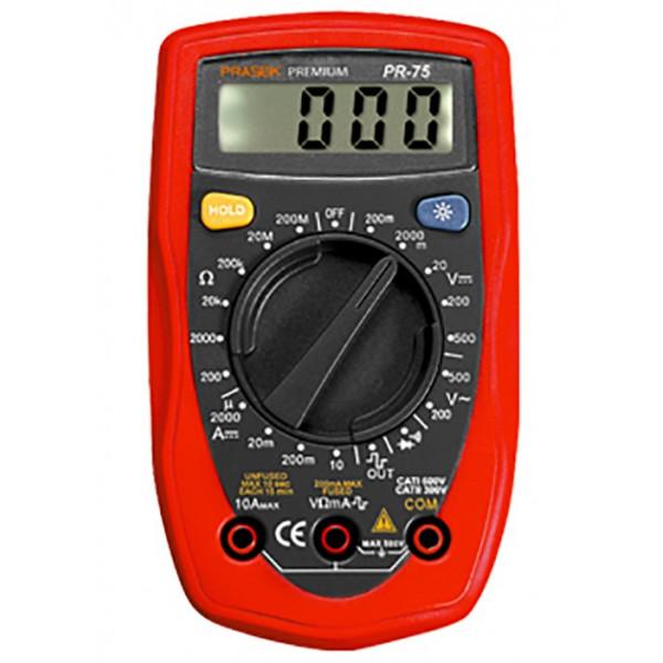 Multitester Digital Prasek Premium PR-75, ACDC 500V 10A Voltaje Resistencia Diodo Continuidad