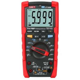 Multimetro Digital Profesional UNI-T UT-195M, True RMS AC750V DC1000V Mide Voltaje Resistencia Capacitancia Temp continuidad
