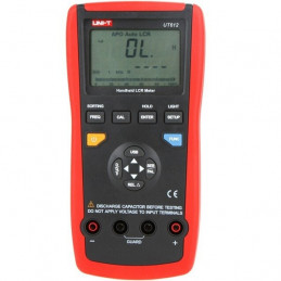 Medidor Digital LCR UNI-T UT-612, Resistencia 200MΩ Capacitancia Inductancia permite mediciones relativas
