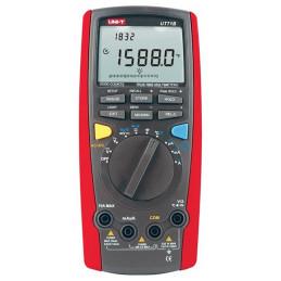 Multimetro Digital UNI-T UT-71B True RMS, ACDC1000V Voltaje Corriente Resistencia Capacitancia Temp Diodo Continuidad
