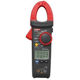 Pinza Amperimetrica Digital UNI-T UT-213A, AutoRango ACDC 600V 400A Corriente Voltaje Resistencia Capacitancia Diodo continuidad