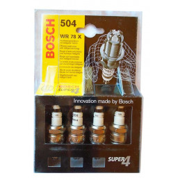 Bujia Bosch Super 4 x 4 0242232804 WR78X, 0 242 232 804, DR 14mm LR 19mm Luz 1.0mm, Kia Optima Rio