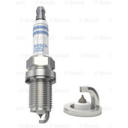 Bujia Bosch Doble Iridium 0242230528 FR8KII33X, 0 242 230 528, DR 14mm LR 19mm Luz 1.1mm, VW TOYOTA SUZUKI NISSAN KIA HYUNDAI