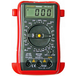 Multitester Digital Prasek Premium PR-301C, DC500V AC500V Mide voltaje Amperaje ohmímetro diodos y continuidad