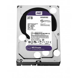 Disco duro Western Digital 3TB Purple Surveillance WD30PURZ, SATA 6.0 Gbps, 5400RPM, 64MB, 3.5""