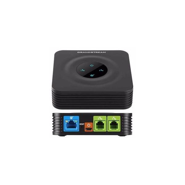Adaptador de Telefono analogico Grandstream HT802, 2 puertos FXS 2 SIP 1 RJ45