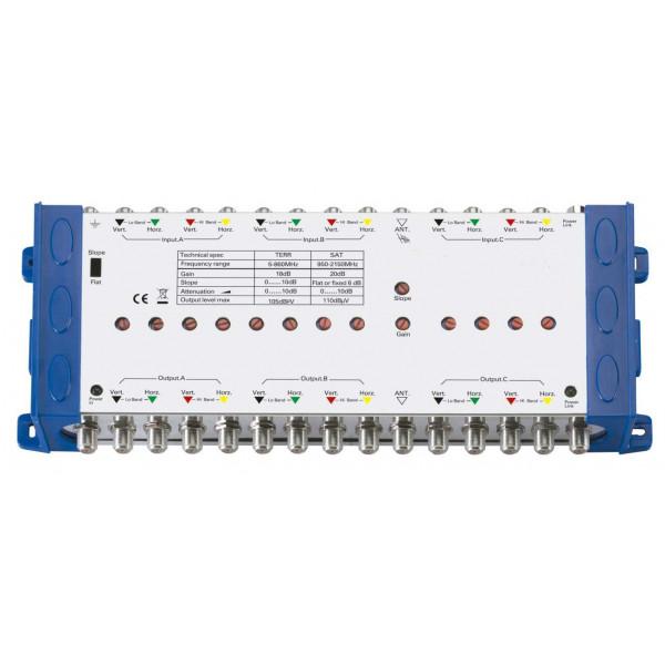 Amplificador en Cascada Antena y Satelital 13A, MultiSwitch Switch con Equalizador y Multi Control de Ganacia