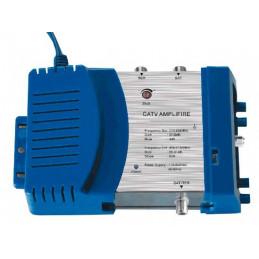 Amplificador de Interior para Señal Satelital DTH 201G, CATV Cable y TDT, 30dB Regulador de Ganacia Conecto RG6 F