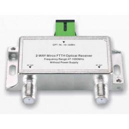 Receptor óptico Mini FTTH 1202, 1100-1600nm 47-1000MHz Conector RG6 F SC / APC