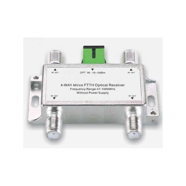 Receptor óptico Mini FTTH 1204, 1100-1600nm 47-1000MHz Conector RG6 F SC / APC