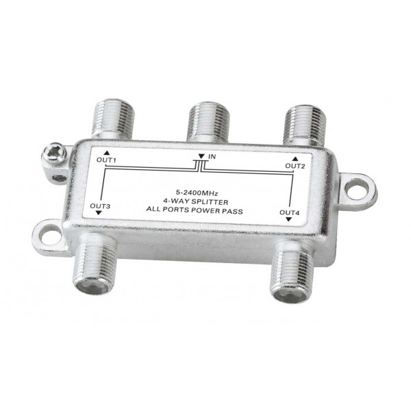 Splitter DTH Satelite SATV CATV 04, Power passing-24V 0.8A Low insertion loss, high isolation