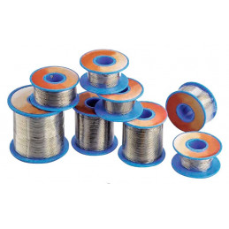Bobina Rollo de estaño 33K 250G, Diametro 1.0mm 60/40 estaño/plomo Pb+ all purpose solder