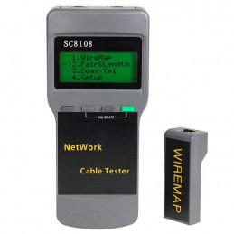 Cable Tester Testeador Analizador Red Profesional SC8108, CAT 5E 6E TDR Calcula la distancia del error o cortocircuito
