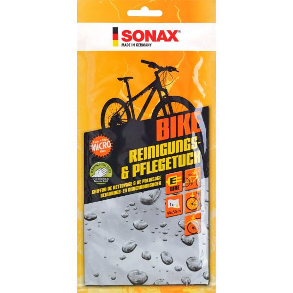 Paño de Limpieza Cuidado Bike especial para Bicicletas 40 x 50 32ml, Limpia Rapido y Facil, 852000 SONAX