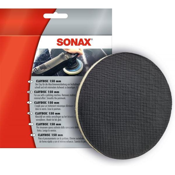 Claydisc 150 mm Disco Eliminador de Suciedades con minimo esfuerzo, para procesado en máquina, 450605 SONAX