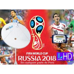 Pack Kit Television Satelital FTA Incluye Antena 2.40cm Banda C + Sat Finder Analogico Para LIMA Y PROVINCIA