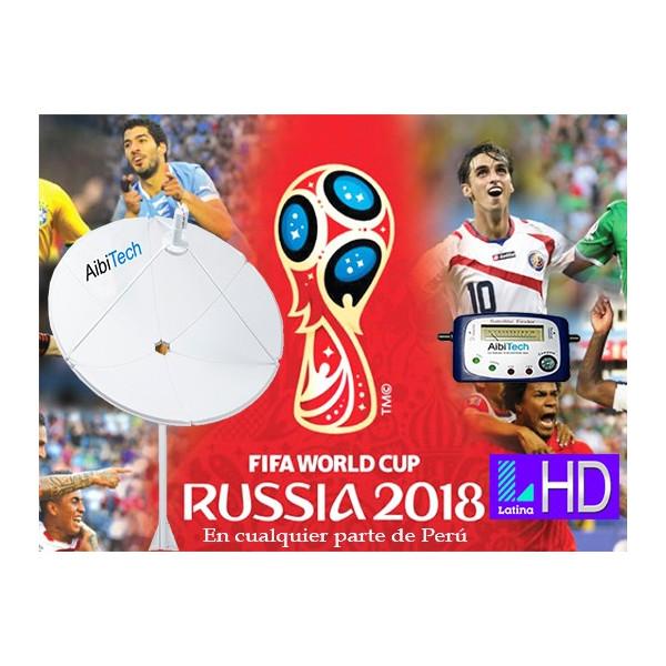 Pack Kit Television Satelital FTA con Antena 2.40cm Banda C Para LIMA Y PROVINCIA