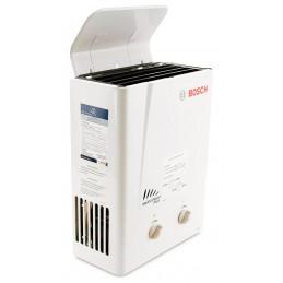 Calentador a Gas Bosch Oxi 5.5 Litros GN, Encendido Automatico y 5 Sistemas de Seguridad, Incluye Deflector no requiere ducto