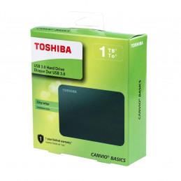 """Disco duro externo Toshiba Canvio Basics 1TB HDTB410XK3AA, USB 3.0, 2.5"""", Negro"""