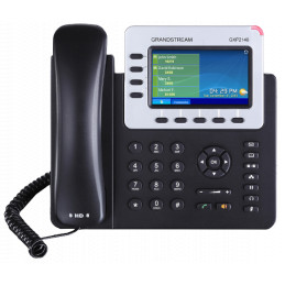 "Telefono IP - Grandstream GXP-2140, 4 SIP, RJ-45 Gigabit PoE, Bluetooth, LCD 4.3"" color"
