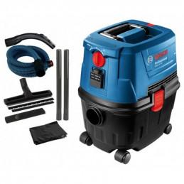 Aspiradora De Polvo Universal Bosch Gas 15 PS, Humedo y Seco 1100W Flujo de Aire 53L Reservorio 15L