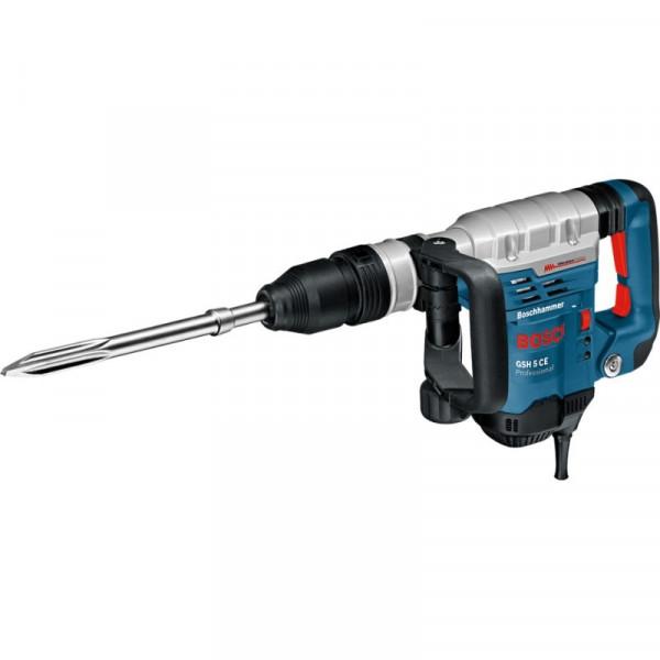 Martillo Percutor Demoledor Bosch GSH 5 Basic Professional, SDS-max 1100W 2850BPM 7.5Jcon Soft grip, MP