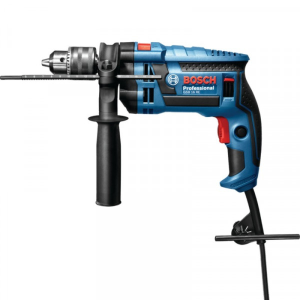 Taladro Percutor Bosch GSB 16 RE Professional, 750W 2800RPM M1/2 Soft Grip Velocidad Variable, MP