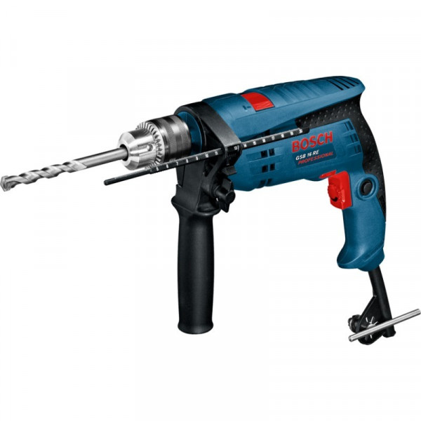 Taladro Percutor Bosch GSB 16 RE Professional, 750W 3000RPM M1/2 Soft Grip Velocidad Variable, MP