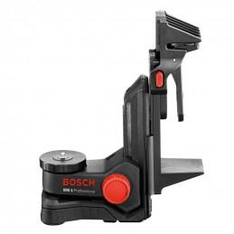 Soporte Universal Bosch BM1, para niveles laser, con clip para fijación y con imán para fijación en superficies magnéticas.