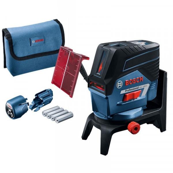 Nivel Laser Bosch GCL 2-50 C, Alcance 10m con soporte RM2, Lineas Cruzadas Incluye plomada y conectividad Bluetoth.