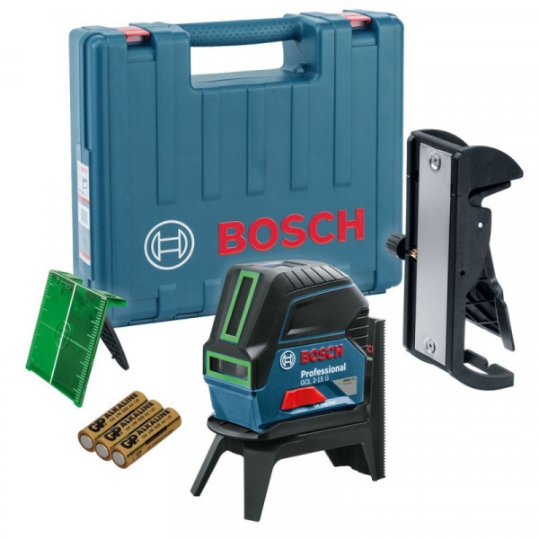 Nivel Laser Combinado Bosch GCL 2-15 G, alcance 15m con soporte RM1 Lineas Cruzadas 2 Puntos