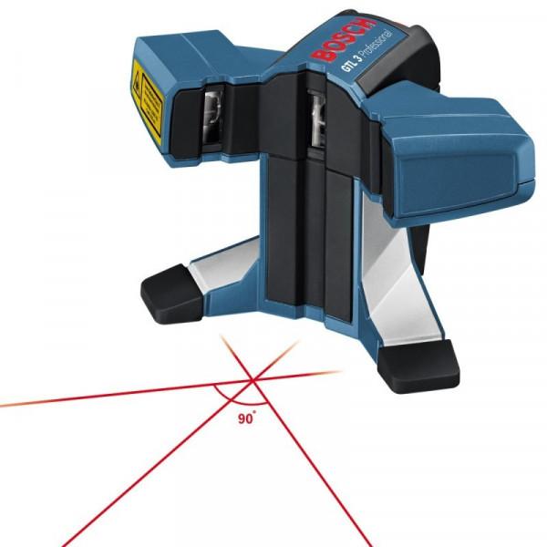Nivel laser Bosch GTL 3, 3 Puntos Alcance 20m lineas en 45 y 90 precisa y rápida de cerámicos, porcelanato y mosaicos