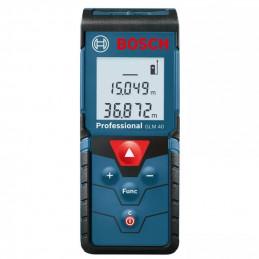 Medidor de distancia laser Bosch GLM40, Mediciones hasta 40m, IP54