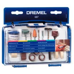 Kit de Accesorios Dremel 687, 52 piezas accesorios MultiUsos