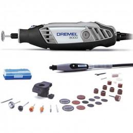 Herramienta Rotativa Multiproposito Dremel 3000 Kit 30 Accesorios con 2 Aditamentos, 90W 32000RPM VV