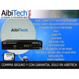 Pack Kit Television Satelital FTA Incluye Antena 65CM + Sat Finder Analogico, Para LIMA Y PROVINCIA
