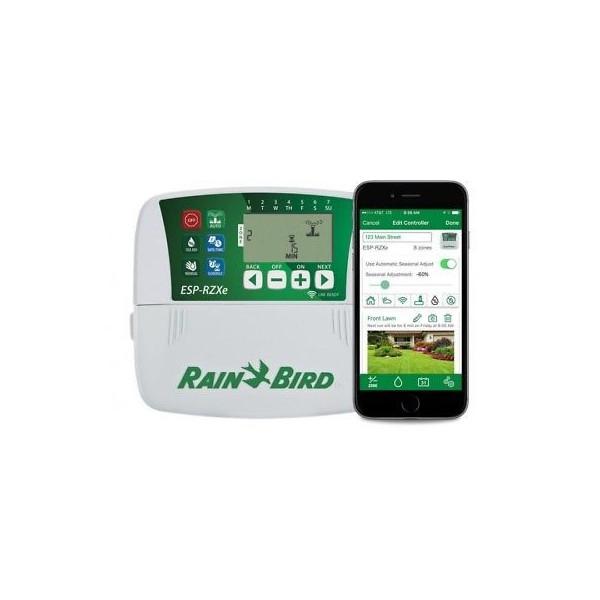 Programador de Riego Automatico Profesional Temporizador ESP-RZXE 4 Zonas Estaciones Compatible con WIFI, RZXE4I-230V Rain Bird