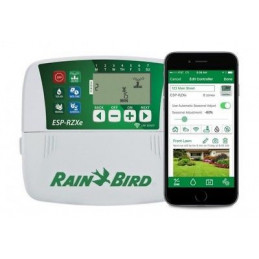 Programador de Riego Automatico Profesional Temporizador ESP-RZXE 8 Zonas Estaciones Compatible con WIFI, RZXE8I-230V Rain Bird