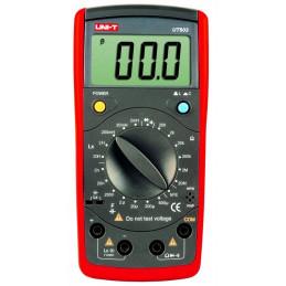 Multimetro Medidor Digital LCR UNI-T UT-603, para medir Inductancia Capacitancia Resistencia Transistor Diodo y continuidad
