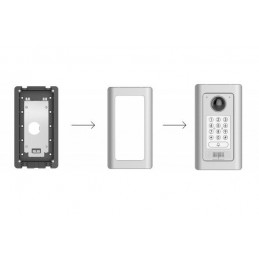 "Sistema de Videoportero IP Grand Stream GDS3710, Sensor 1/2.7"" 2 MP, 1920x1080, 180°, PoE Incluye Montura"
