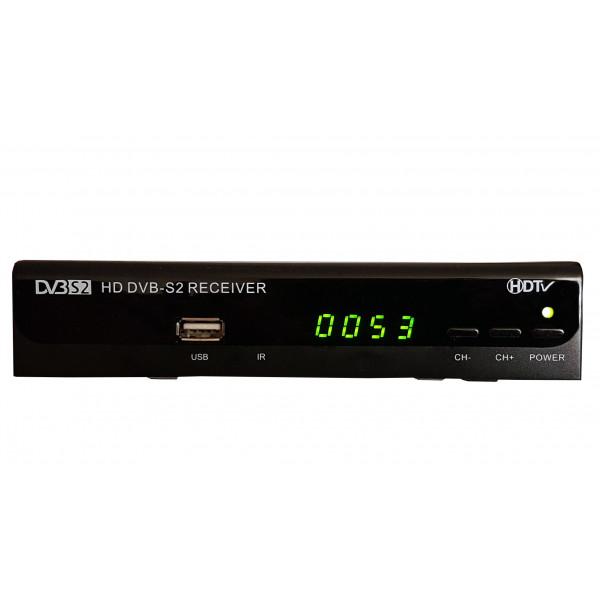 Receptor Decoficador Satelital FTA HD con PVR, AV y HDMI con 3 tipos de busqueda de Canales, Diseño 2018, SAT680HD AibiTech