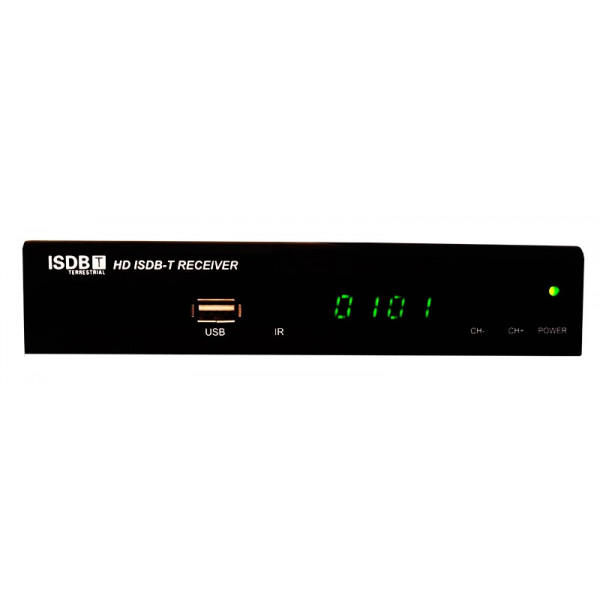 Receptor Sintonizador ISDB-T HD Television Digital Terreste TDT con PVR Entradas AV y HDMI, Diseño 2017, TDT300HD AibiTech
